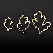Материалы для творчества ручной работы. Ярмарка Мастеров - ручная работа Каттер листьев хризантемы, пластик. Handmade.
