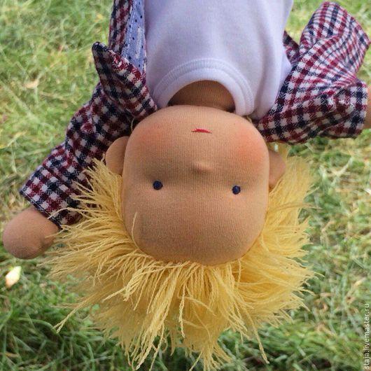 Вальдорфская игрушка ручной работы. Ярмарка Мастеров - ручная работа. Купить Егорка. Handmade. Лимонный, вальдорфская кукла