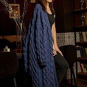 Cardigans handmade. Livemaster - original item Textured cardigan in denim color. Handmade.