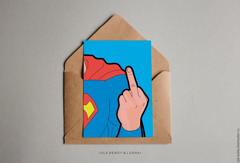 Открытка с суперменом своими руками 65