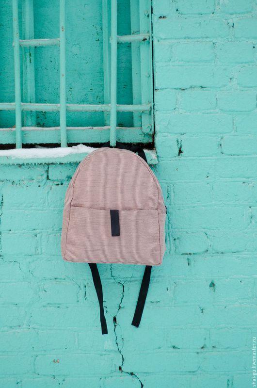 """Рюкзаки ручной работы. Ярмарка Мастеров - ручная работа. Купить рюкзак женский из ткани """"Pink"""". Handmade. Бледно-розовый, рюкзак"""