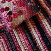 """Для дома и интерьера ручной работы. Ярмарка Мастеров - ручная работа Комплект """"Рассветные ласточки"""" прогулочный пледик и чехол на подушку. Handmade."""