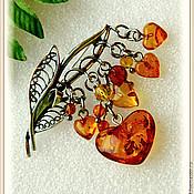 Украшения handmade. Livemaster - original item Amber. Brooch
