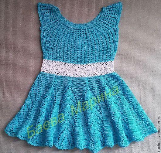 """Одежда для девочек, ручной работы. Ярмарка Мастеров - ручная работа. Купить Сарафан детский """"Бирюзинка"""". Handmade. Бирюзовый, сарафан для девочки"""
