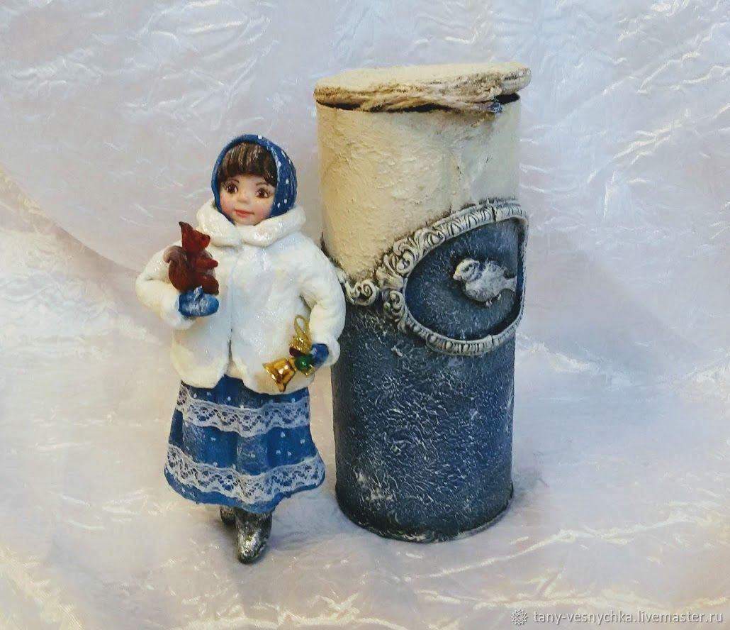 Ватная игрушка на елку , девочка с белочкой, Куклы и пупсы, Томск,  Фото №1