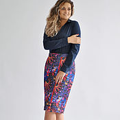 Одежда handmade. Livemaster - original item Skirt winter zip up quilted knit. Handmade.