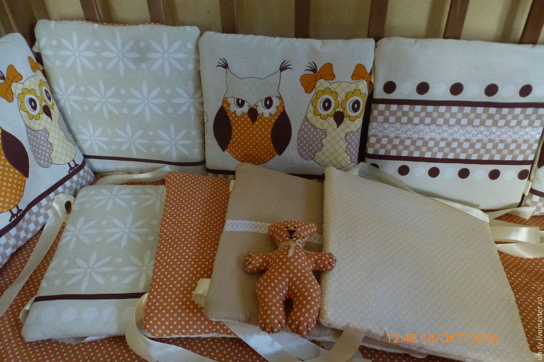 Бортики подушки в кроватку мастер класс