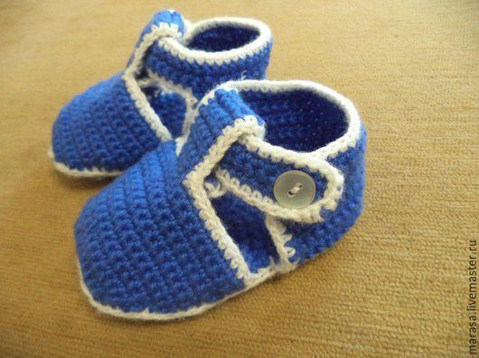 Детская обувь ручной работы. Ярмарка Мастеров - ручная работа. Купить пинетки. Handmade. Комбинированный, детям, подарок, крючком, малышу