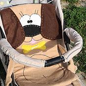 Работы для детей, ручной работы. Ярмарка Мастеров - ручная работа Матрасик Собачка Бигль в коляску, подарок новорожденному, авторская. Handmade.