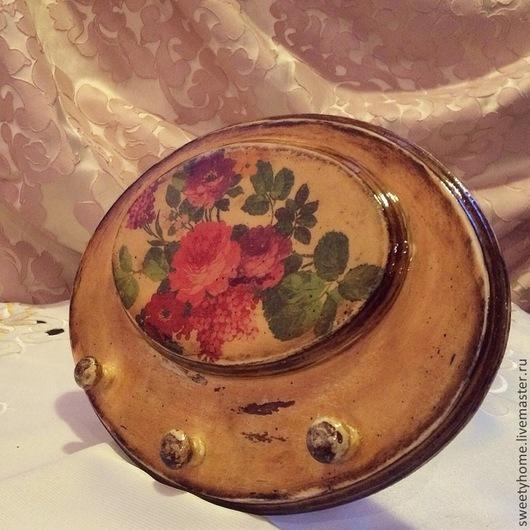 """Кухня ручной работы. Ярмарка Мастеров - ручная работа. Купить Вешалка""""Английский сад"""". Handmade. Разноцветный, вешалка, Декупаж, вешалка для ключей"""