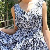 Одежда handmade. Livemaster - original item Summer dress-sundress in half