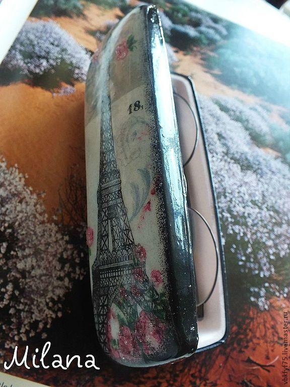 """Очешник """"Париж весной"""" Очечник. Очешники.Декупаж"""