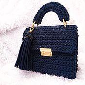 Сумки и аксессуары handmade. Livemaster - original item Author blue bag with beads. Handmade.