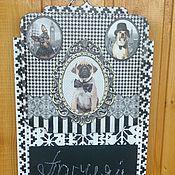 Для дома и интерьера handmade. Livemaster - original item Chalk Board - hanger - key holder. Handmade.
