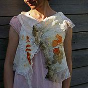 """Одежда ручной работы. Ярмарка Мастеров - ручная работа Жилет """"Нежный"""" натуральное окрашивание, экопринт. Handmade."""