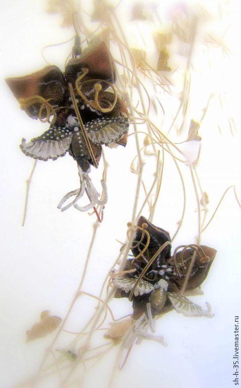 """Серьги ручной работы. Ярмарка Мастеров - ручная работа. Купить Серьги """"Танец бронзовых колибри"""". Handmade. Разноцветный, серьги с птичками"""