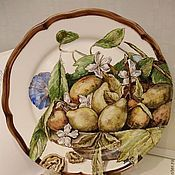 Посуда handmade. Livemaster - original item The painted porcelain.Painted porcelain plate