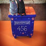 Копилки ручной работы. Ярмарка Мастеров - ручная работа Копилка «Коты на мусорном баке Мехуборка». Handmade.