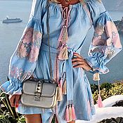 "Одежда handmade. Livemaster - original item Short dress with wedges ""Crystal Roses"". Handmade."