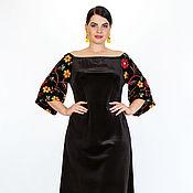 Платья ручной работы. Ярмарка Мастеров - ручная работа Нарядное платье Сюзанна.большие размеры. Handmade.