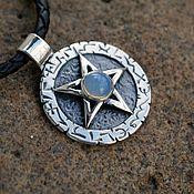 Украшения handmade. Livemaster - original item Pentagram with moonstone. Handmade.