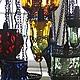 """Освещение ручной работы. Люстра из цветного стекла """"1000 и 1 ночь"""". Mantipa 123. Ярмарка Мастеров. Восточная сказка"""