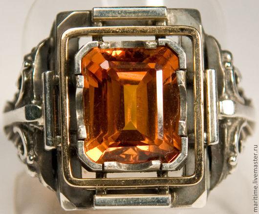 """Украшения для мужчин, ручной работы. Ярмарка Мастеров - ручная работа. Купить Перстень с сапфиром """"Ваше Благородие"""". Handmade. Сапфир, золото"""