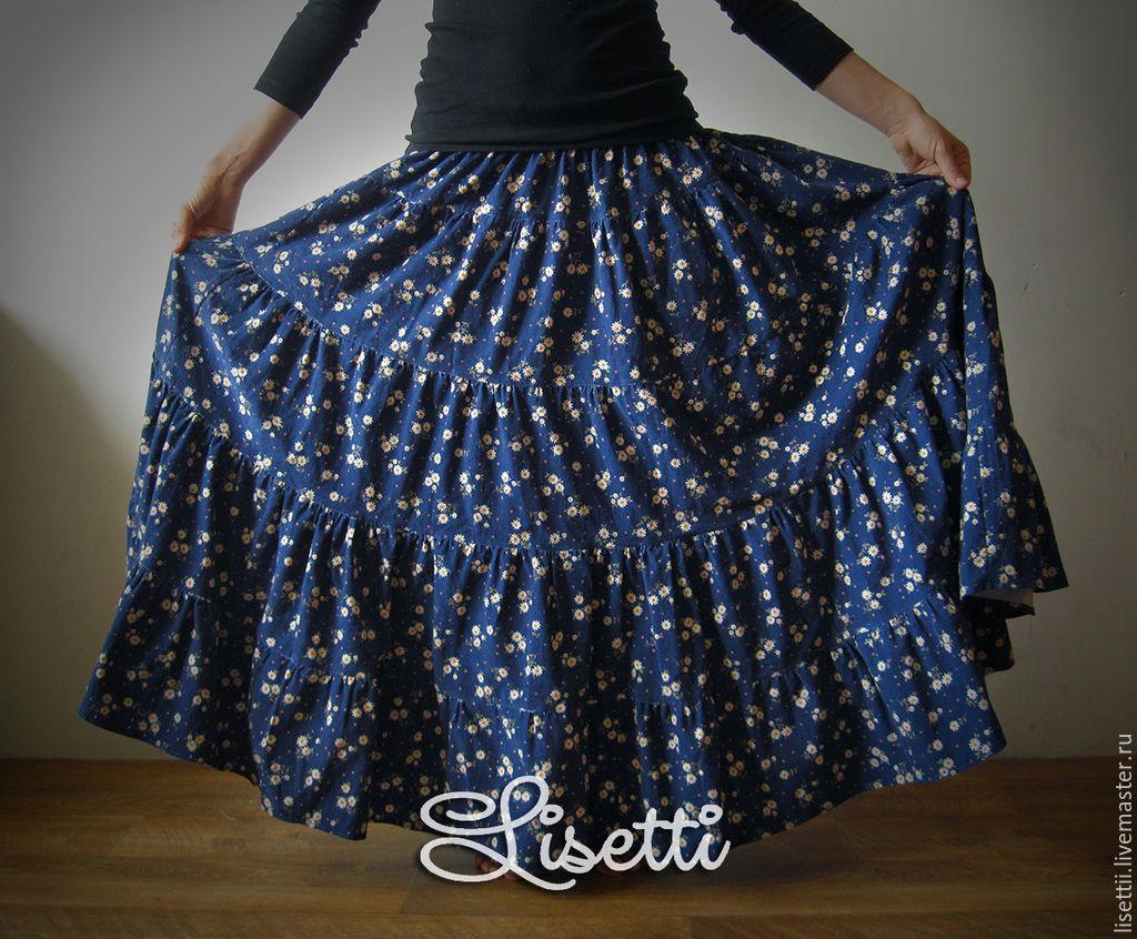 Как сшить многоярусную юбку в пол фото 292