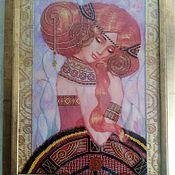 Картины и панно ручной работы. Ярмарка Мастеров - ручная работа Вышивка бисером Забава. Handmade.