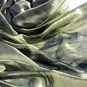 Аксессуары ручной работы. Ярмарка Мастеров - ручная работа Бохо Палантин Батик Эльфийский Лес Натуральный Шелк 100%. Handmade.