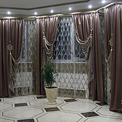 Для дома и интерьера handmade. Livemaster - original item Curtains in the PREMIUM lounge