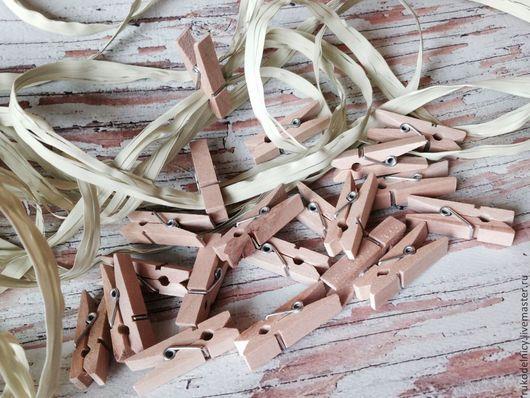 Набор деревянных прищепок - декоративные крафт 3,5 *0,7 мм.