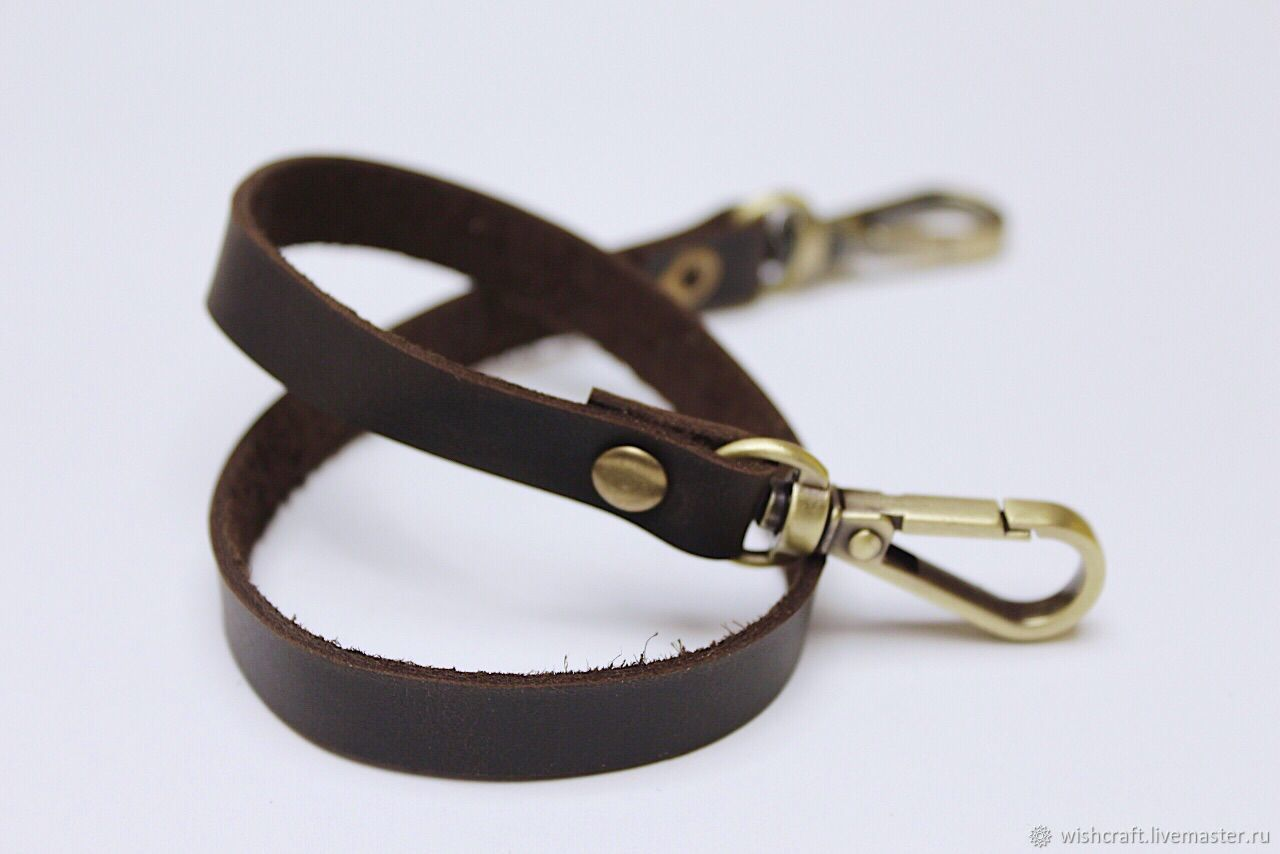 Cord with carabiner made of genuine leather, Key chain, St. Petersburg,  Фото №1