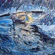 Картины ручной работы. Ярмарка Мастеров - ручная работа Зима. Handmade.