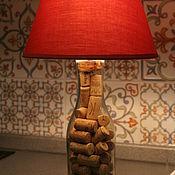 Для дома и интерьера ручной работы. Ярмарка Мастеров - ручная работа Лампа настольная из бутылки.. Handmade.
