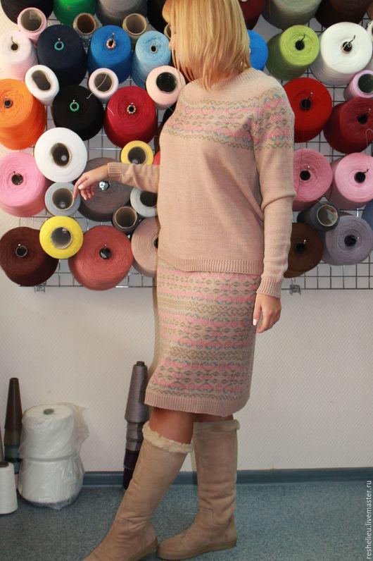 Костюмы ручной работы. Ярмарка Мастеров - ручная работа. Купить Костюм вязаный №92 из 30% итальянской шерсти. Handmade. Костюм