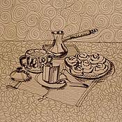 Картины и панно ручной работы. Ярмарка Мастеров - ручная работа Кофейное панно. Handmade.