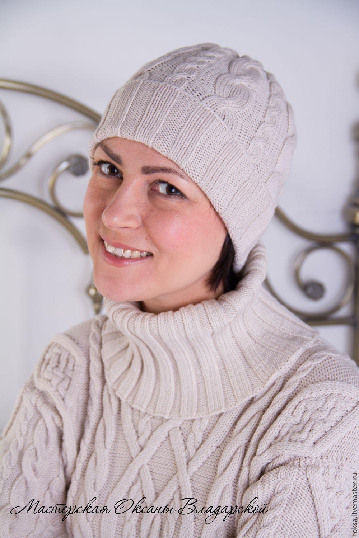 шапка вязаная женская герда купить в интернет магазине на