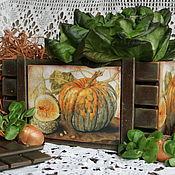 """Для дома и интерьера ручной работы. Ярмарка Мастеров - ручная работа короб """"Урожай"""". Handmade."""