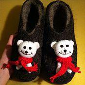 """Обувь ручной работы. Ярмарка Мастеров - ручная работа Тапочки """"Белый мишка"""". Handmade."""