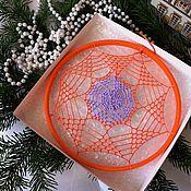"Мандала ручной работы. Ярмарка Мастеров - ручная работа Мандала: ""Оранжевое солнце"". Handmade."