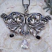 Necklace handmade. Livemaster - original item Lorraine necklace pendant silver Cubic zircon Onyx. Handmade.