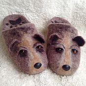 """Обувь ручной работы. Ярмарка Мастеров - ручная работа Тапочки валяные """"Мишки"""". Handmade."""