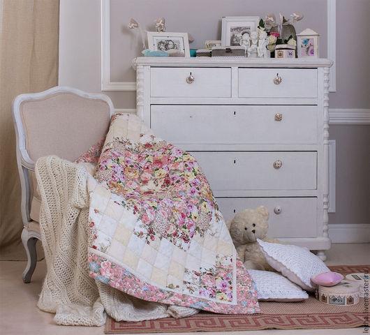 """Детская ручной работы. Ярмарка Мастеров - ручная работа. Купить Лоскутное одеяло """"Зефирный букет"""". Handmade. Одеяло, лоскутное одеяло"""