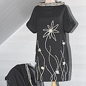Одежда ручной работы. Ярмарка Мастеров - ручная работа Платье-туника серое Сюжет 2190. Handmade.