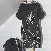 Одежда handmade. Livemaster - original item Tunic dress gray Plot 2190. Handmade.