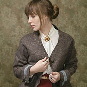 """Одежда ручной работы. Ярмарка Мастеров - ручная работа """"Старые письма"""" жакет, войлок. Handmade."""