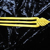 Украшения ручной работы. Ярмарка Мастеров - ручная работа гнутая заколка для волос  лист. Handmade.