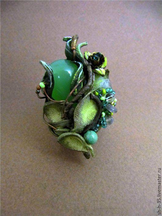"""Кольца ручной работы. Ярмарка Мастеров - ручная работа. Купить Кольцо """"Берегиня"""". Handmade. Комбинированный, зеленое кольцо"""