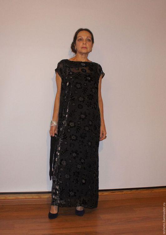 """Платья ручной работы. Ярмарка Мастеров - ручная работа. Купить Платье """"Балахон"""". Handmade. Черный, платье вечернее"""
